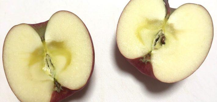 半分に割れたリンゴ