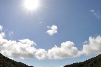 太陽がサンサンと降り注ぐ日